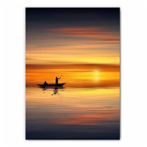 Fishing Boat at Sunset Print