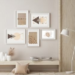 Abstract Neutral Gallery Wall
