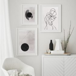 Abstract Modern Grey Gallery Wall