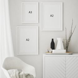 Abstract Modern Grey Gallery Wall Print Sizes