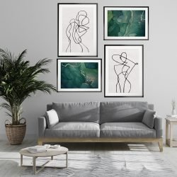 Abstract Line Art Ladies Gallery Wall