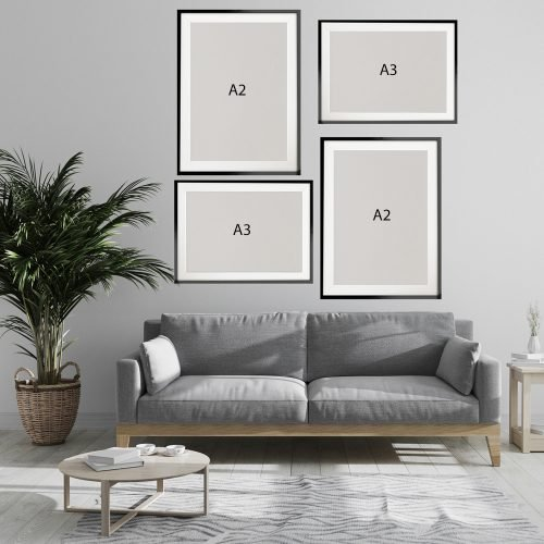 Abstract Line Art Ladies Gallery Wall Print Sizes