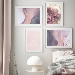 Abstract Pink Gallery Wall