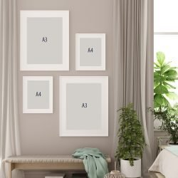 Leaves and Couples Gallery Wall Sizes