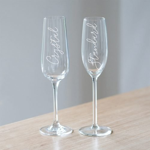 Personalised Golden Wedding Anniversary Champagne Glass or Crystal