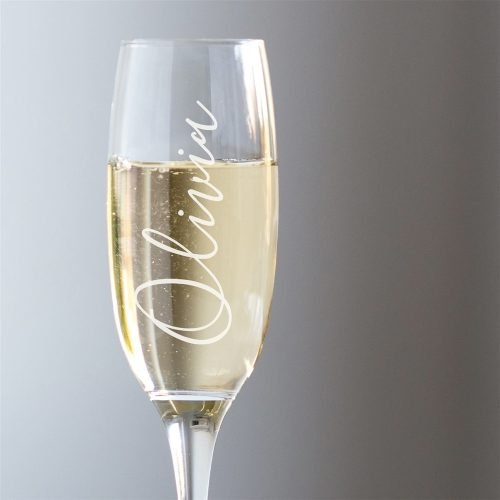 Personalised Name Champagne Glass