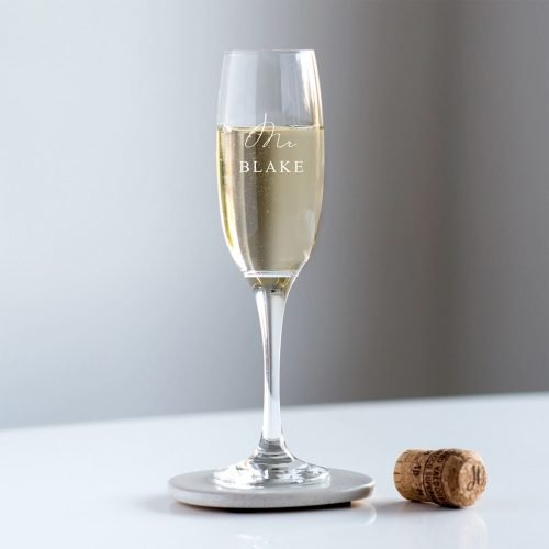 Personalised Mr Champagne Glass