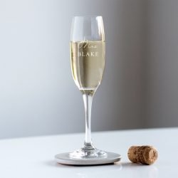 Personalised Mrs Champagne Glass