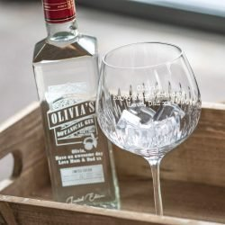 Personalised Message Dartington Crystal Cut Glass Special Elite Font