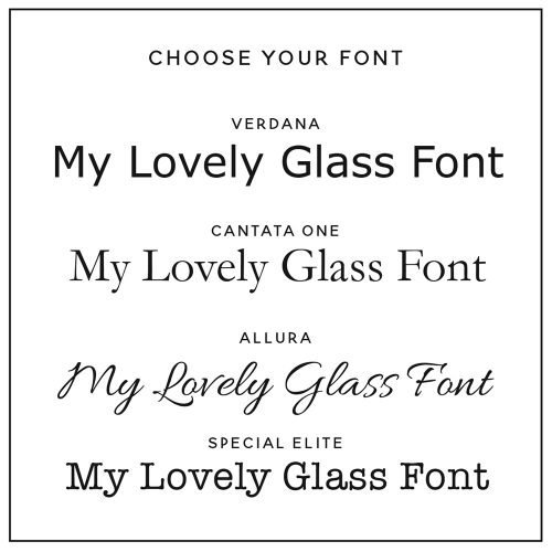 Personalised Message Wine Glass Fonts