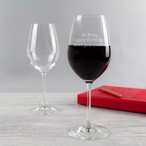 Personalised Message Wine Glass Special Elite Font