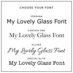 Personalised Message Pint Glass Fonts
