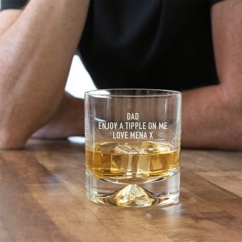 Personalised Dimple Whisky Tumbler