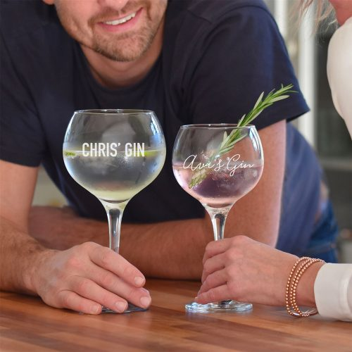 His & Hers Personalised Gin Glasses