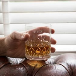 Personalised Crystal Cut Whisky Tumbler