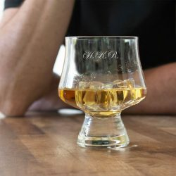 Personalised Initials Snifter Whisky Glass