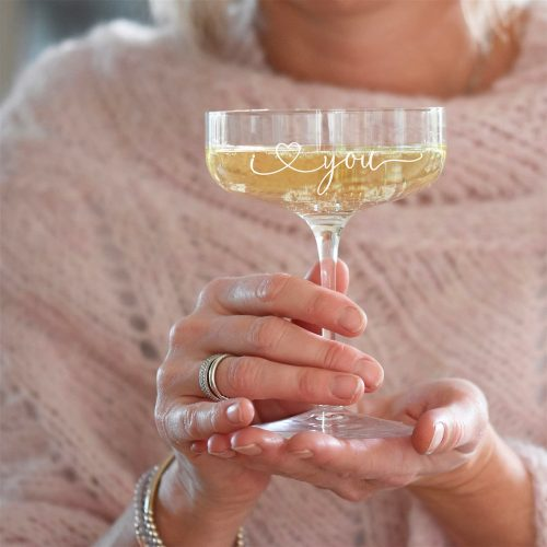 I Love You Champagne Coupe Glass