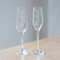 Congrats Champagne Glass Options