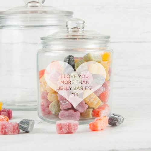 Personalised Heart Glass Jar