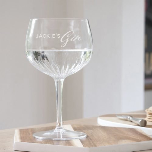 Personalised Crystal Gin Glass