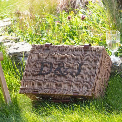 Personalised Picnic Hamper with Initials