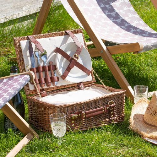 Inside Contents of the Personalised Picnic Hamper