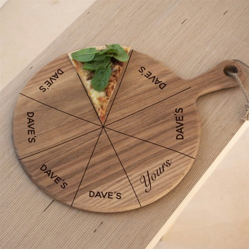 Personalised Mine Yours Pizza Board