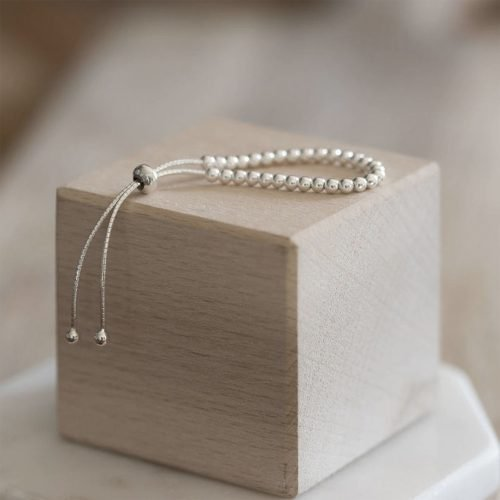 Sterling Silver Baby Bracelet with Personalised Gift Box