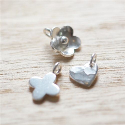Heart and Flower Charms