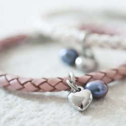 Ladies Leather Wristband with Charms