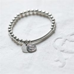 Personalised St Christopher Baby Bracelet