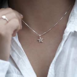 Personalised Initial Star Necklace with Gift Box