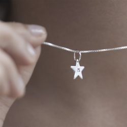Personalised Initial Star Necklace Pendant