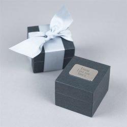 Cubic Zirconia Kiss Ring Personalised Gift Box