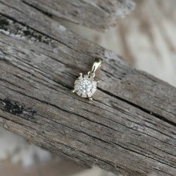 9ct Gold Solitaire Diamond Necklace Pendant
