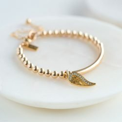 Gold Wing Christening Bracelet