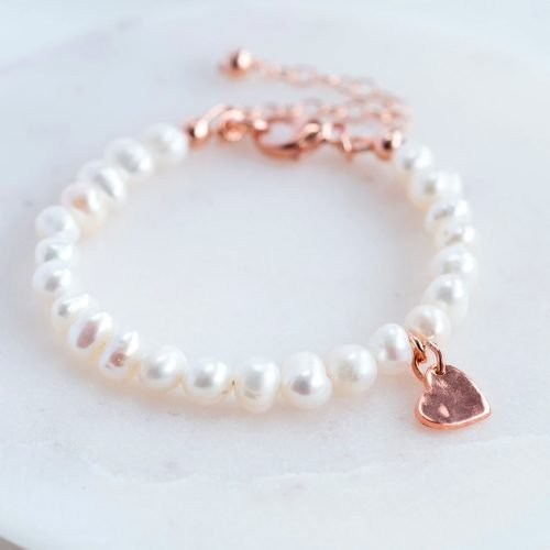 Pearl Christening Bracelet with Personalised Gift Box