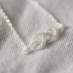 Cubic Zirconia Infinity Necklace with Personalised Gift Box