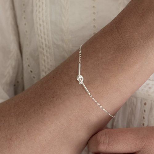 Personalised Friendship Knot Silver Bracelet with Gift Box