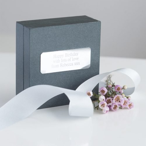 Personalised Friendship Knot Silver Bracelet Gift Box