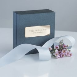 Love Rings Necklace Personalised Gift Box