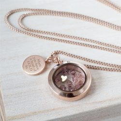 Personalised Heart of Gold Necklace with Gift Box