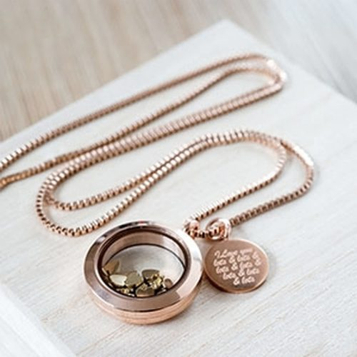 I Love You Lots Necklace with Personalised Gift Box