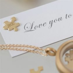 Personalised Love You To Pieces Necklace Message Card