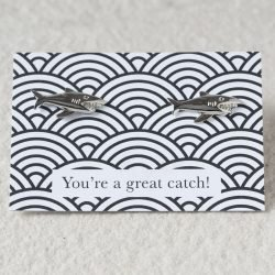 You're A Catch Shark Cufflinks