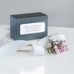 Lucky Clover Cufflinks Personalised Gift Box
