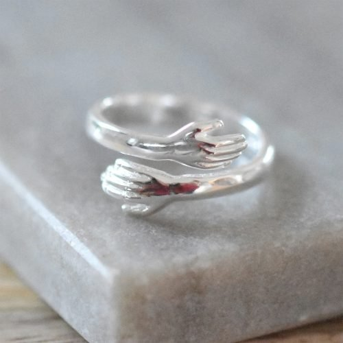 Sterling Silver Hug Ring