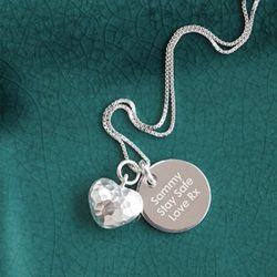 Personalised Heart Pendant Necklace with Gift Box