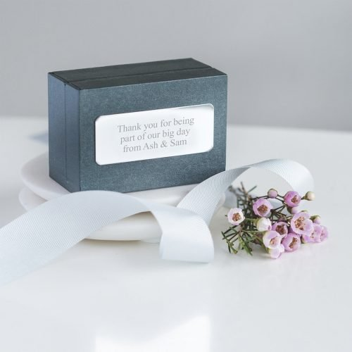 Personalised Oval Cufflinks Gift Box