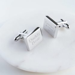 Personalised Rectangle Cufflinks with Gift Box